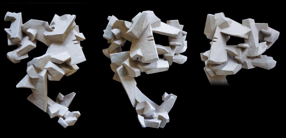Cubist mask #2 2016
