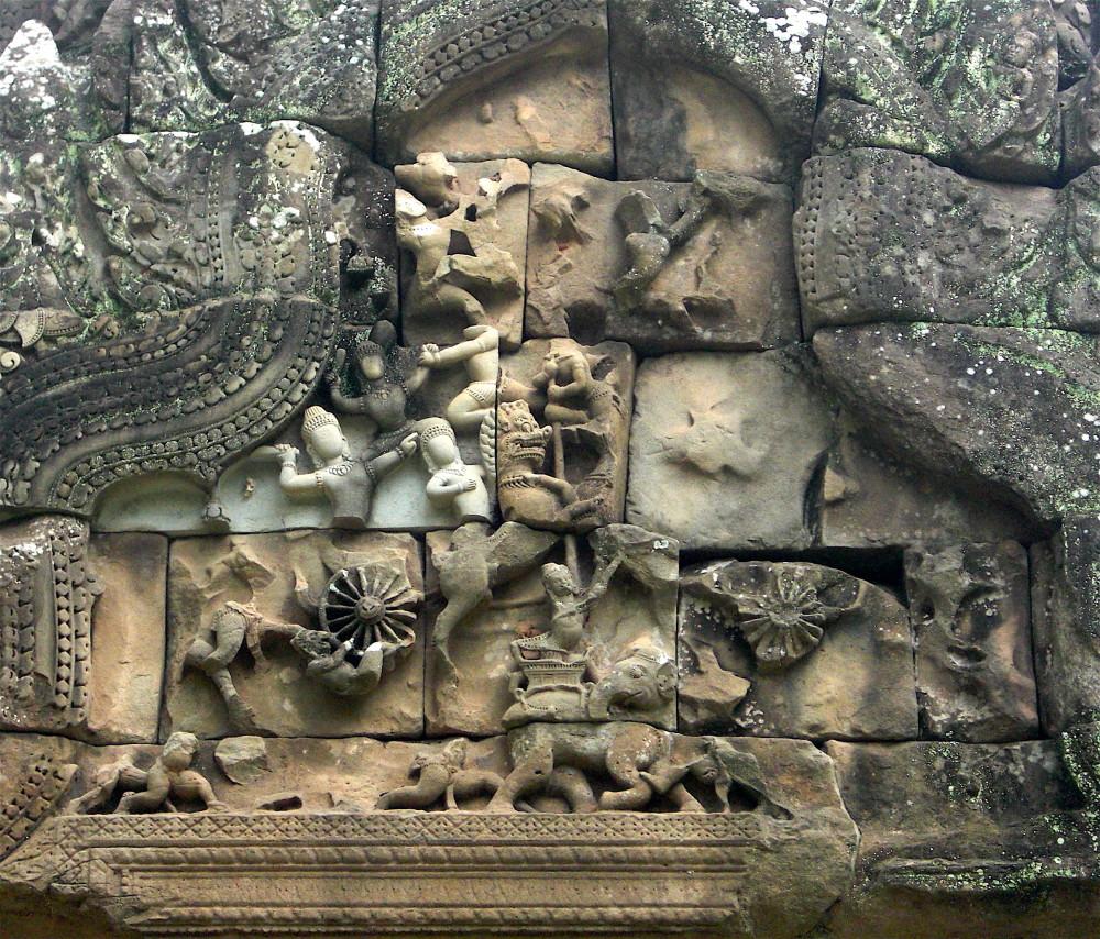 Angkor Wat weathered carving