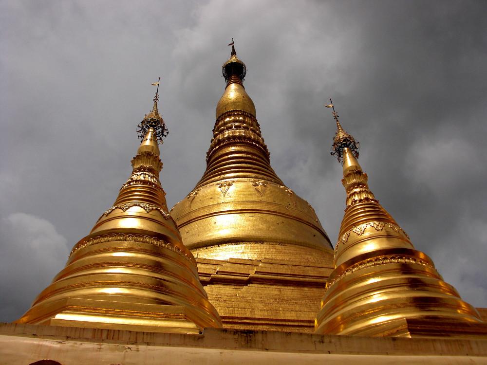Shwedagon spires
