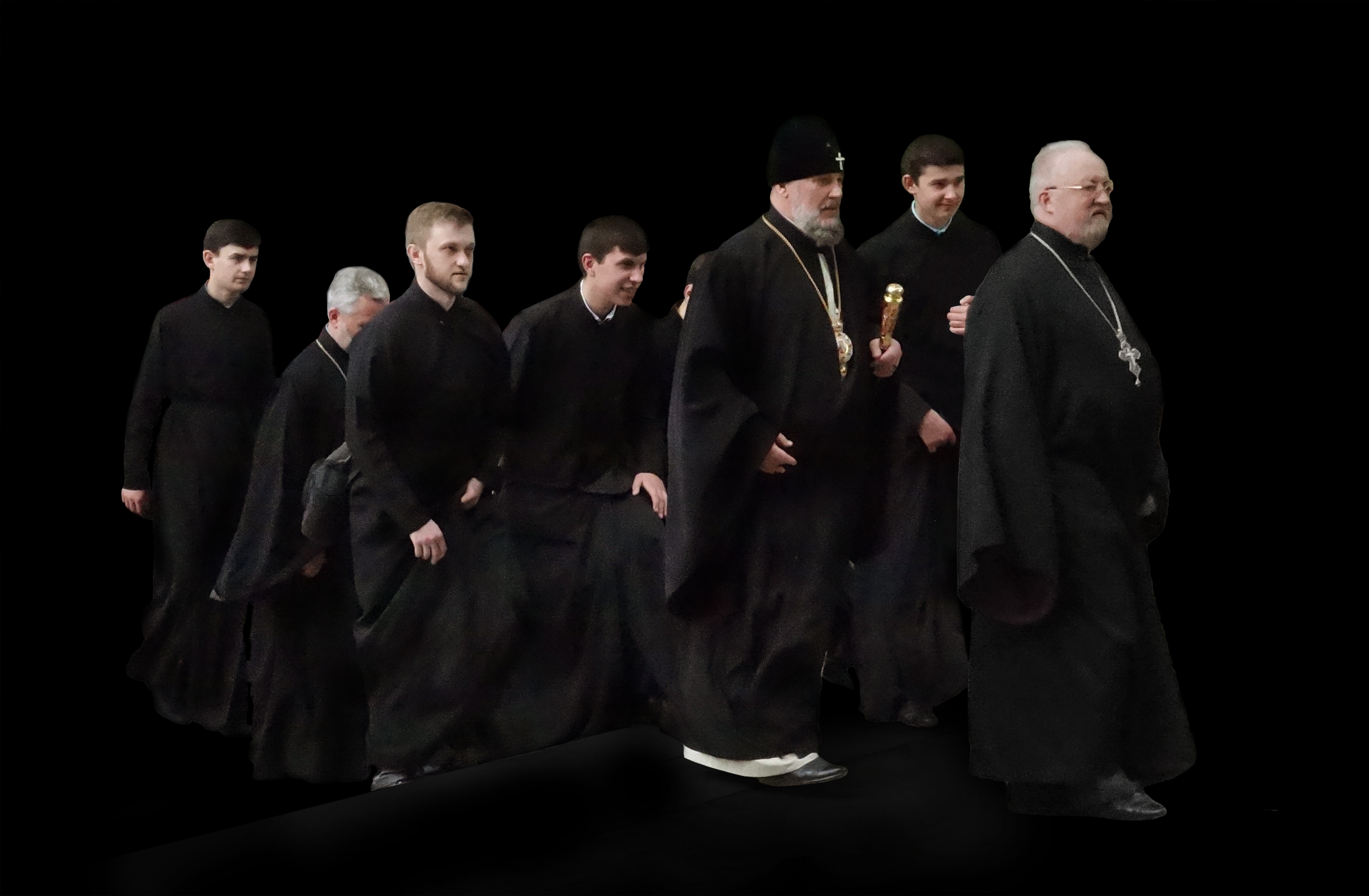 1a gaggle of priests