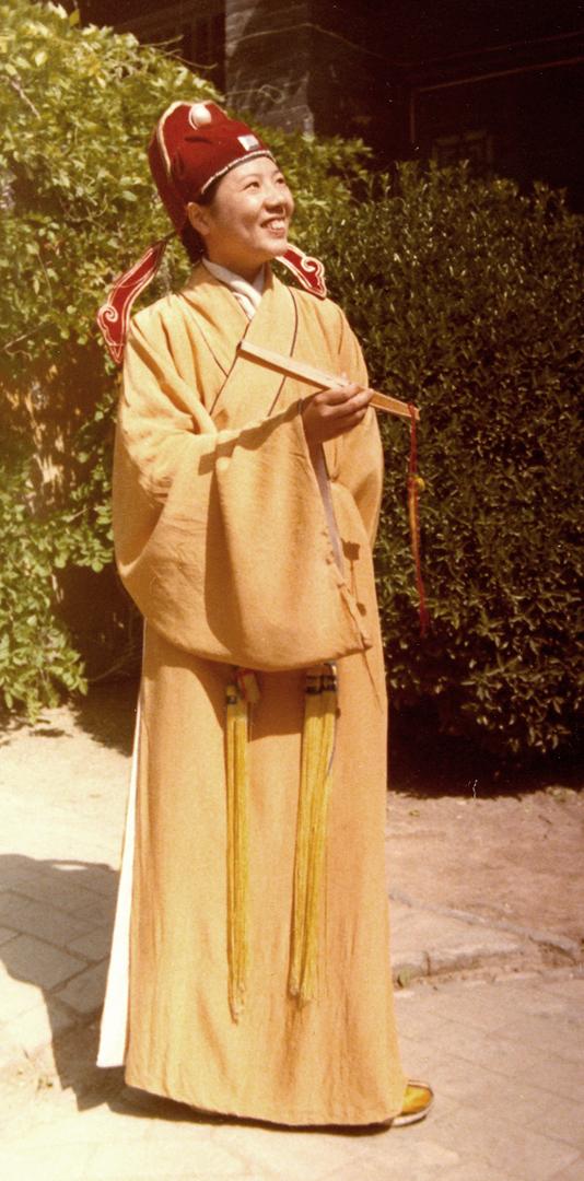 Chinese scollar costume
