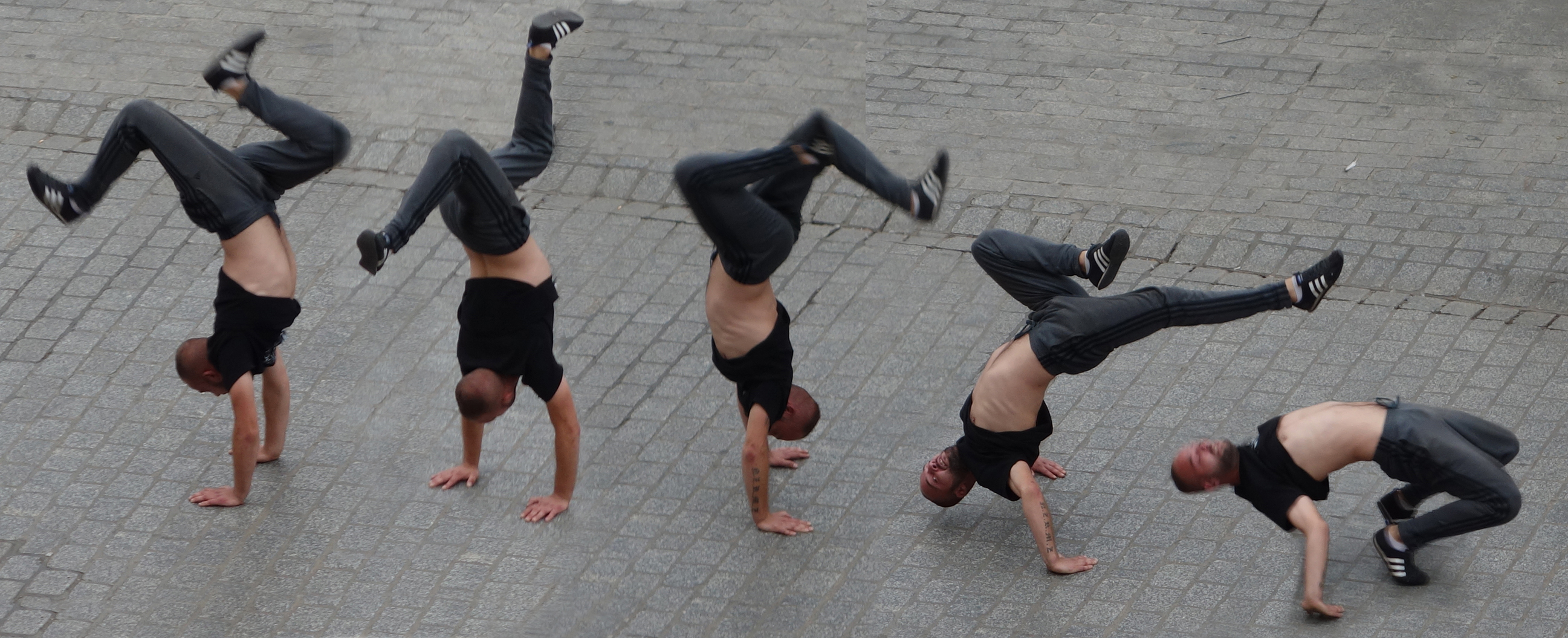 Krakow, breakdancers