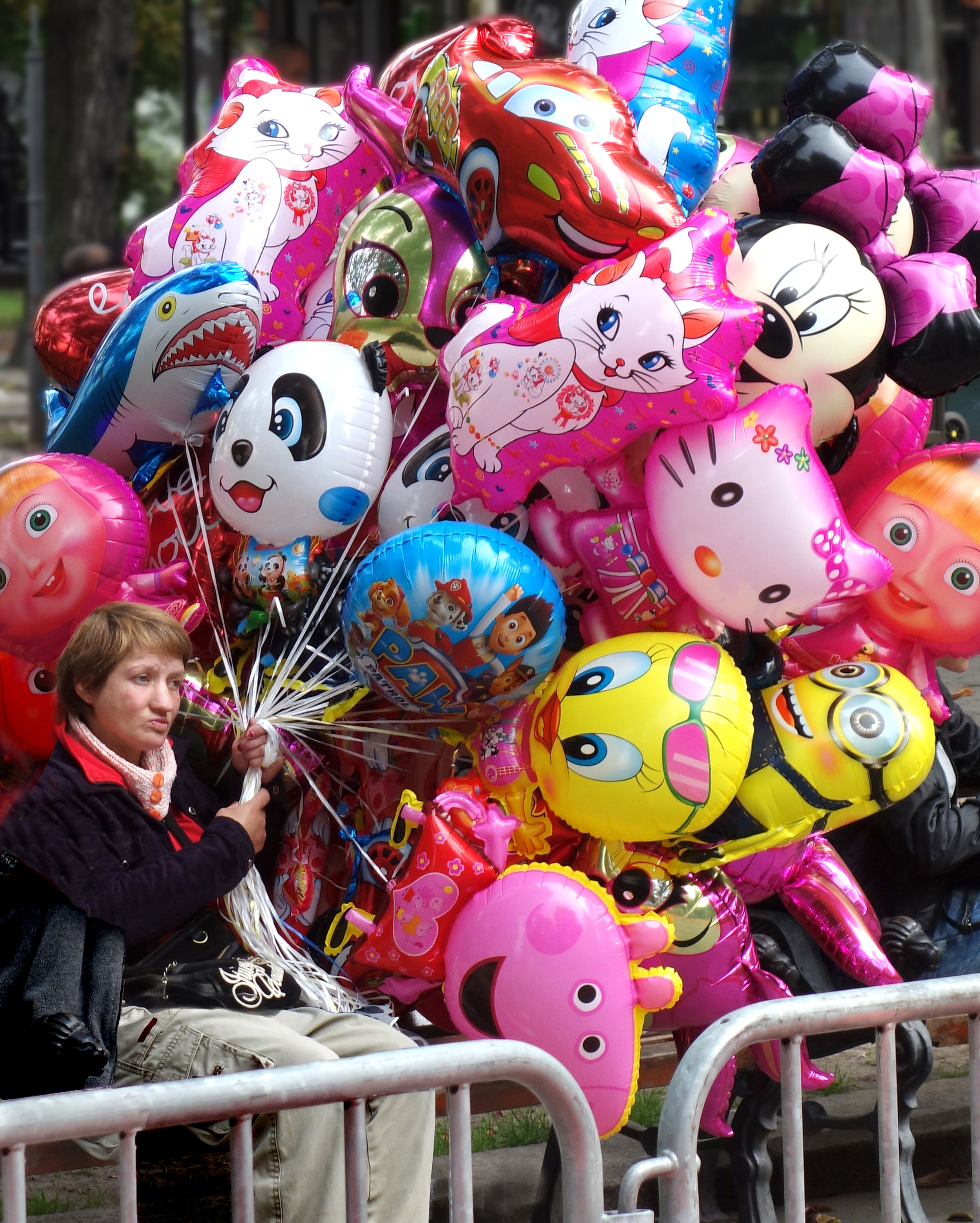 Lviv, balloon seller